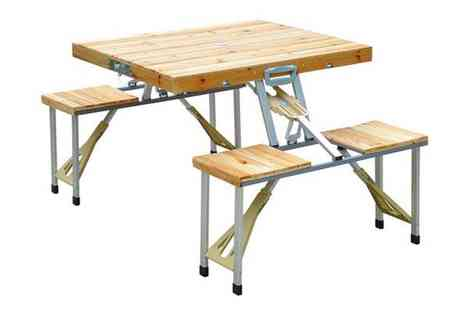 Mhstar - Wooden Camping Picnic Table Set - Save 38%