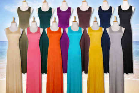 Qualite - One Tank Top Maxi Dresss in Choice of 12 Colours - Save 71%