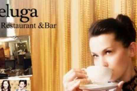 Beluga - Afternoon Tea With a Twist For Two With Cocktails, Sandwiches, Scones and Cakes - Save 58%