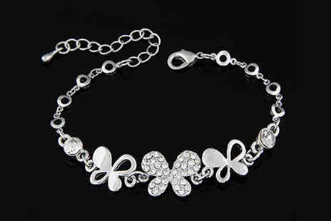 Essential Silver - A Choice of Crystal Bracelets - Save 40%