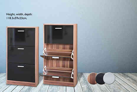 DIRECT FURNITURE SUPPLIERS - Three drawer shoe rack cabinet  - Save 60%