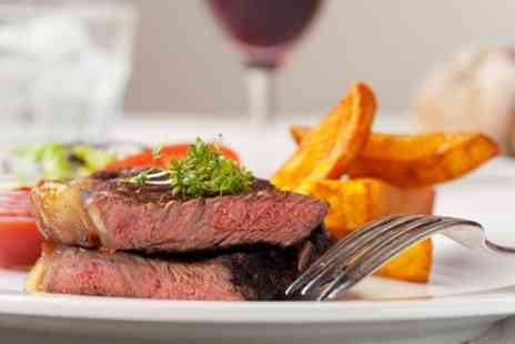 Maze Restaurant - 12oz Steak Meal With Wine For Two - Save 50%