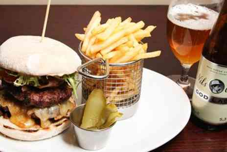 Covent Garden Grill - Burger & Beer or Wine - Save 22%