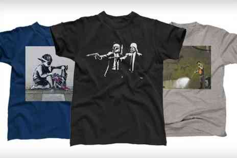 Printed Wardrobe - Banksy Street Art T Shirt  - Save 45%