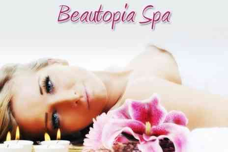 Beautopia Spa - Choice of Hot Stone Therapy, Aromatherapy or Swedish Massage plus Deep Cleansing Facial for Two - Save 76%