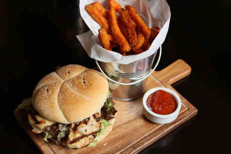 Sackville Lounge - Gourmet burger and glass of beer or wine for Two - Save 51%