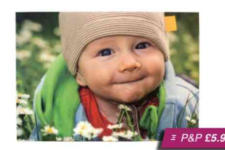Your Image On Canvas - A4 personalised canvas print - Save 96%
