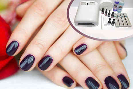 Nail Kit with UV Lamp and Gel Polishes - UV Hybrid Gel Nail Kit  - Save 72%