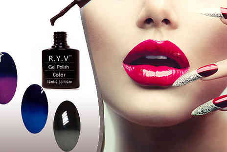 RYV Products - Three Piece Set of Colour Changing Gel Polishes - Save 63%
