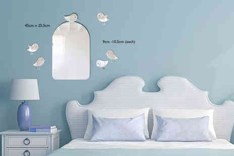 Mungai Mirrors - Birdcage mirror with two bird mirrors - Save 60%