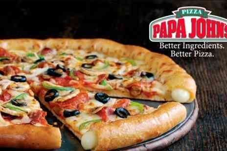 Papa Johns - Large Pizza With Two Sides and Drink f - Save 49%
