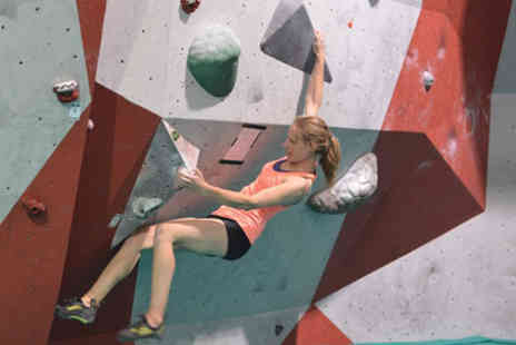 City Bloc - An indoor boulder climbing induction course for adults including shoe hire, all day climbing - Save 81%