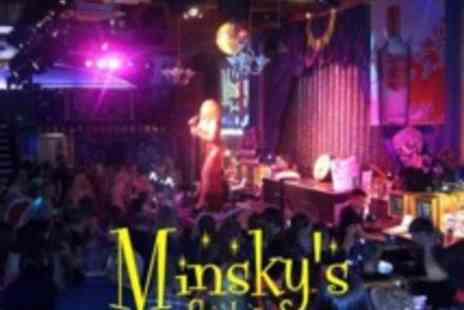 Minskys Showbar - Four cocktails plus entry for 2 - Save 61%