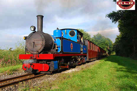 The Kirklees Light Railway - Steam Train Ride for One Adult and One Child - Save 50%