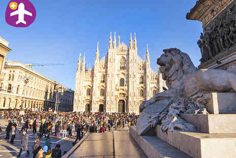 Seasonal Holidays - One night stay for two with Flight Inclusive Milan Break - Save 48%