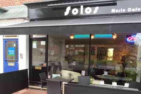 Solos Music Cafe - Light Lunch Plus Drink For Two - Save 40%