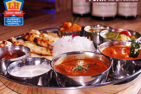 Yukti - Indian Tasting Banquet Including Six Dish Thali Meal Street Snacks, and Starter with Rice and Naan Each for Two - Save 51%