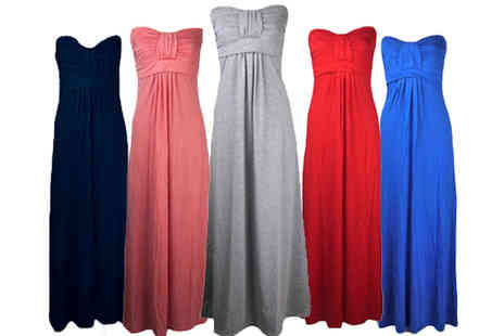 Karma Clothing - Jamie Strapless Maxi Dress in a Choice of Colours - Save 55%
