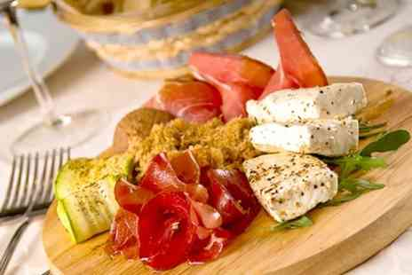 The Sidings - Mediterranean or Antipasto Platter With Wine For Two  - Save 38%