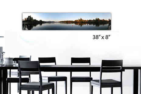 Print Block - 8 x 38 inch iPhone Panoramanic Canvas - Save 78%