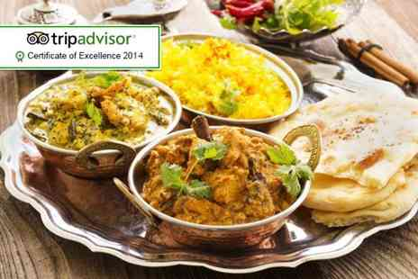 Mahmaan -  Indian meal for 2 including a main, rice, naan, dessert and a coffee - Save 54%