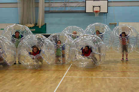 Bubble Bounce Football - Dubble bounce football hire including ten childrens balls - Save 74%
