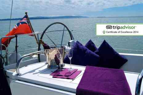 Escape Yachting - Half day Solent sailing trip including 2 course meal and Champagne - Save 55%