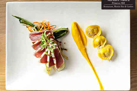 Michael Nadra - Two Course Fine Dining Meal with a Primrose Martini for One Person  - Save 46%