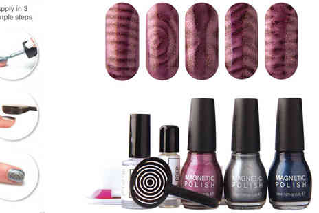 UK Surplus Central - Rio Magnetic Magic Nail Polish Set - Save 57%