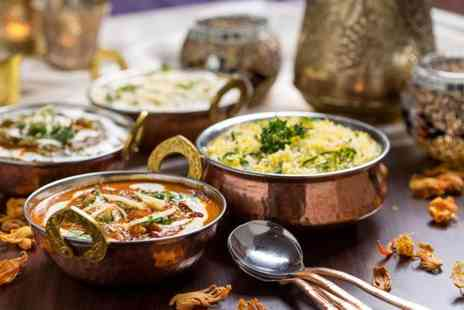 Bombay Delight - Indian meal for 2 including a glass of wine - Save 47%