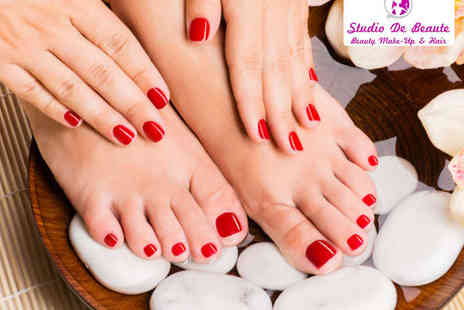 Studio De Beaute - Gelish Manicure or Pedicure  - Save 50%