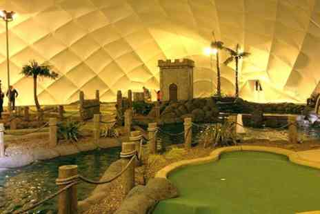 Adventure Golf Island - Mini Golf and Bowling Plus Drinks For Two  - Save 57%
