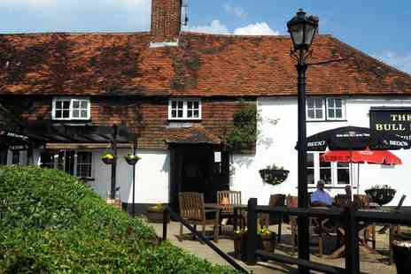 The Bull Inn Bentley - Alfresco Dinner & Wine for 2  - Save 49%