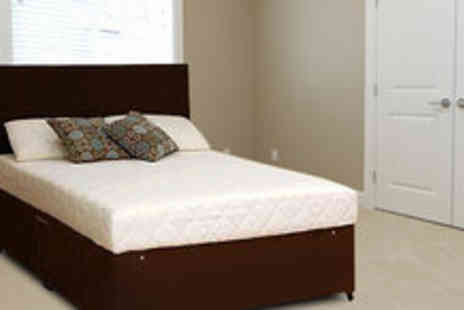 4 Home Furnishing - Luxury double Memory Foam mattress and stylish divan bed base - Save 76%