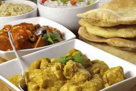Masala Twist - Indian Tapas Meal With Rice or Naan and Wine For Two - Save 52%