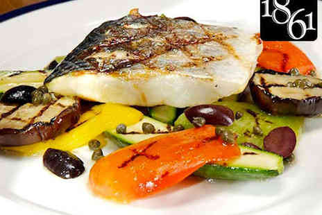 Restaurant 1861 - £50 to Spend Towards Food for Two  - Save 62%