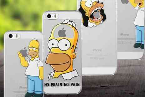 Londeal UK - The Simpsons Homer Bart New Phone Case iPhone 5 or 5S Hard Plastic - Save 66%