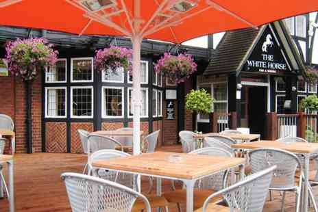 The White Horse -  Meal & Bubbly for 2  - Save 51%