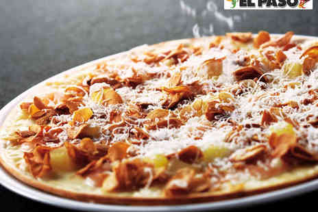 El Paso - Any Pizza or Pasta Main Course Each for Two - Save 50%