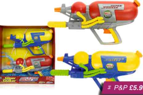 Silver Fishes - Hasbro Super Soaker Max D 5000 twin pack with 10 metre range - Save 52%