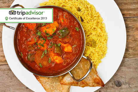 Bollywood Lounge - Two course Indian meal for 2 - Save 55%