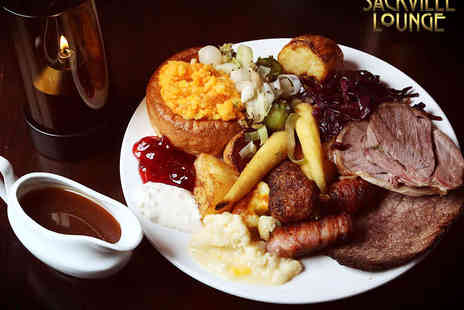 Sackville Lounge - Two Course Sunday Carvery Meal with Glass of Wine Each for Two - Save 55%