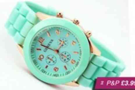 ASPA Supplies - Silicone Geneva watch in a choice of six colours - Save 93%
