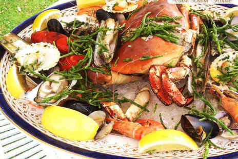 Corse Lawn Hotel - Seafood Platter with Glass of Bubbly and Desert for Two - Save 0%