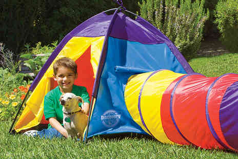 Traditional Garden Games - Children's adventure play tent with tunnel  - Save 50%