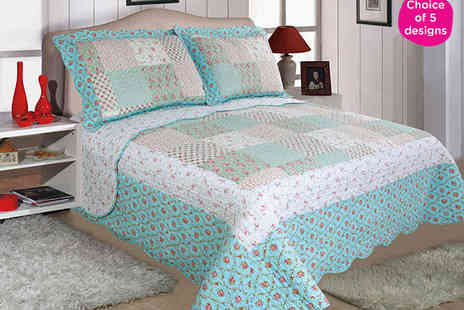 Schema - Single Bedspread and Matching Pillow Case in Choice of Five Designs - Save 44%
