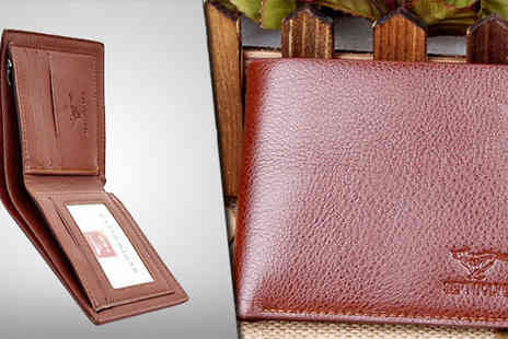 Crystal Crush - Luxuriously soft Mens Brown Leather Wallet - Save 60%