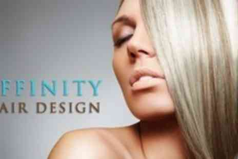 Affinity Hair Design - Half Head of Highlights or Full Head of Colour Plus Cut, Finish and Blow Dry - Save 71%