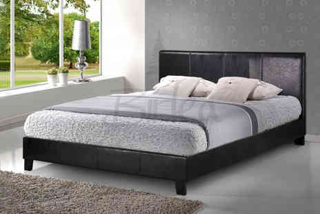 House Of Wyndsor - Contemporary Faux Leather Double Bed - Save 68%