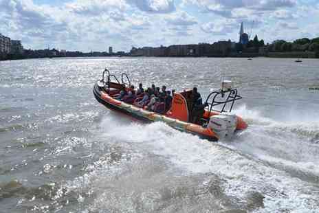 Rib Tours - 50 minute RIB boat thrill ride for one adult along the River Thames - Save 50%